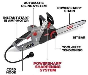 CS1500 Oregon Self-Sharpening Electric Chainsaw