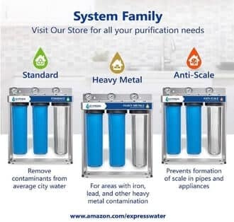 Express Water WH300SCGS Whole House 3-stage Water Filter