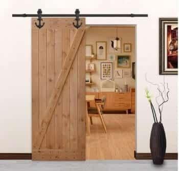 LUBANN Unfinished Knotty Alder Solid Wood Rustic Door Slab