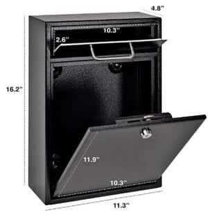 Mail Boss 7412 High-security Wall Mounted Mailbox