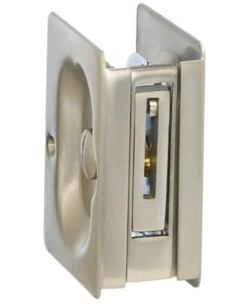 Rectangular Pocket Door Lock Set, Emtek 210215