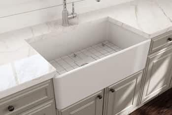 BOCCHI Classico Apron Front Fireclay 30 in. Single Bowl Kitchen Sink