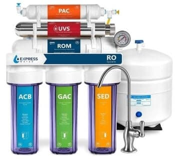 Express Water Ultraviolet Reverse Osmosis Water Filtration System, ROUV10DCG